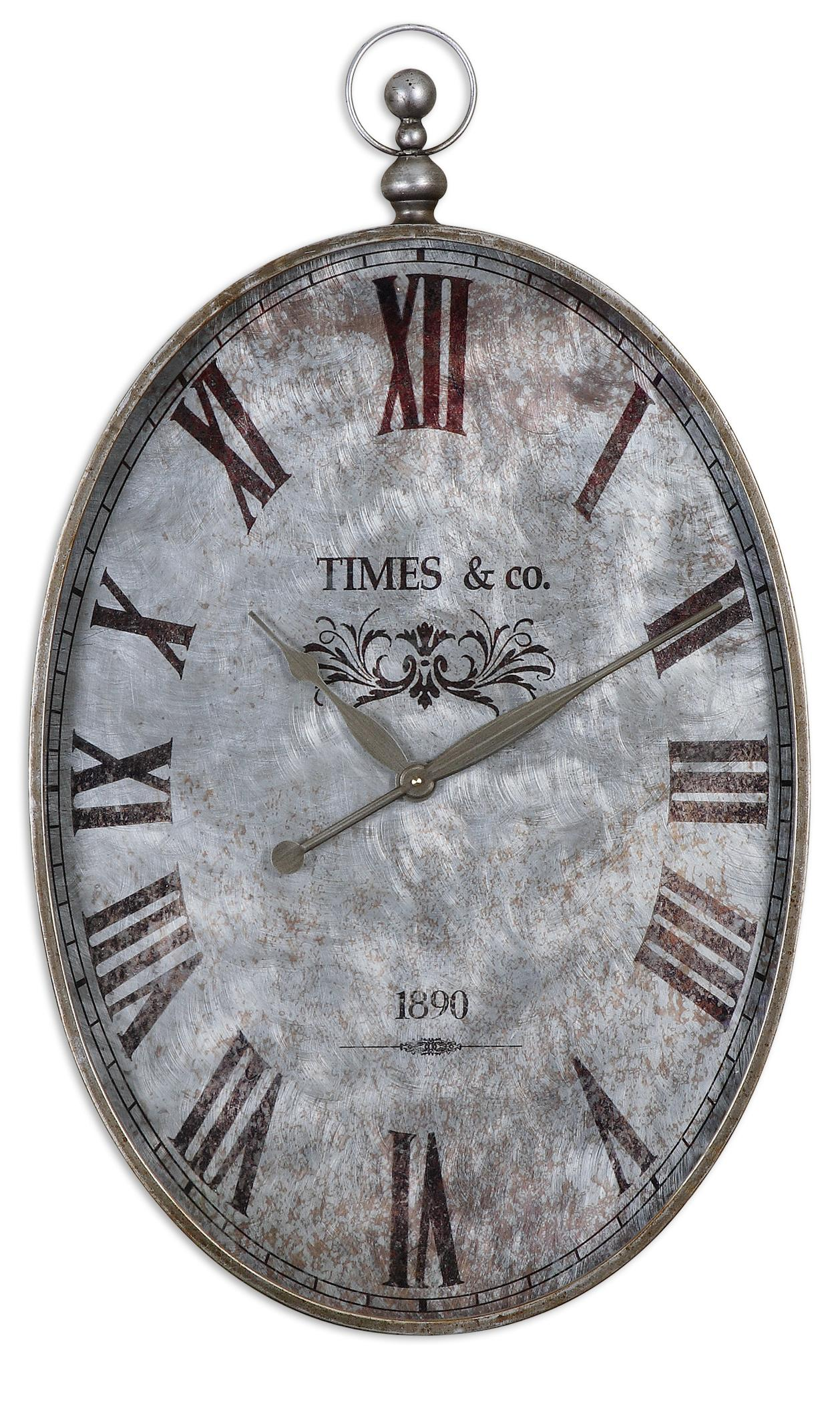 Uttermost Clocks Argento Antique Wall Clock - Item Number: 06642