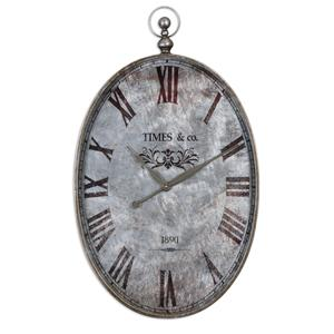 Uttermost Clocks Argento Antique Wall Clock
