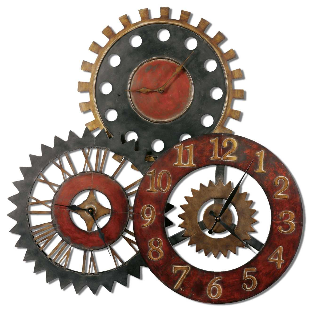 Uttermost Clocks Rusty Movements Clock - Item Number: 06762