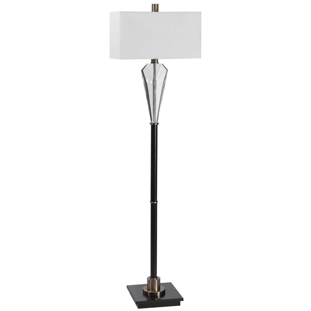 Uttermost Floor Lamps 28198 1 Cora Contemporary Floor Lamp Dunk Bright Furniture Floor Lamps