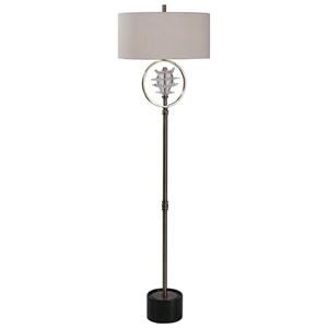 Pitaya Antique Brass Floor Lamp