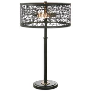 Uttermost Lamps Alita Black Drum Shade Lamp