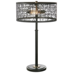 Uttermost Lamps Alita Black Table Lamp