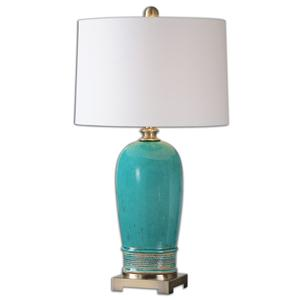 Uttermost Lamps Albertus Crackle Blue Table Lamp