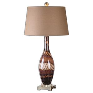 Uttermost Lamps Domitia Brown Glass Table Lamp