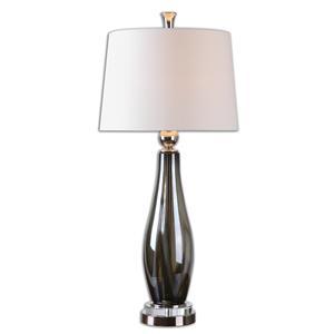 Uttermost Lamps Belinus Gray Glass Table Lamp