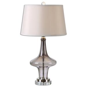 Uttermost Lamps Nona Gray Glass Table Lamp