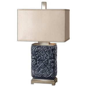 Uttermost Lamps Pratola Charcoal Blue Lamp