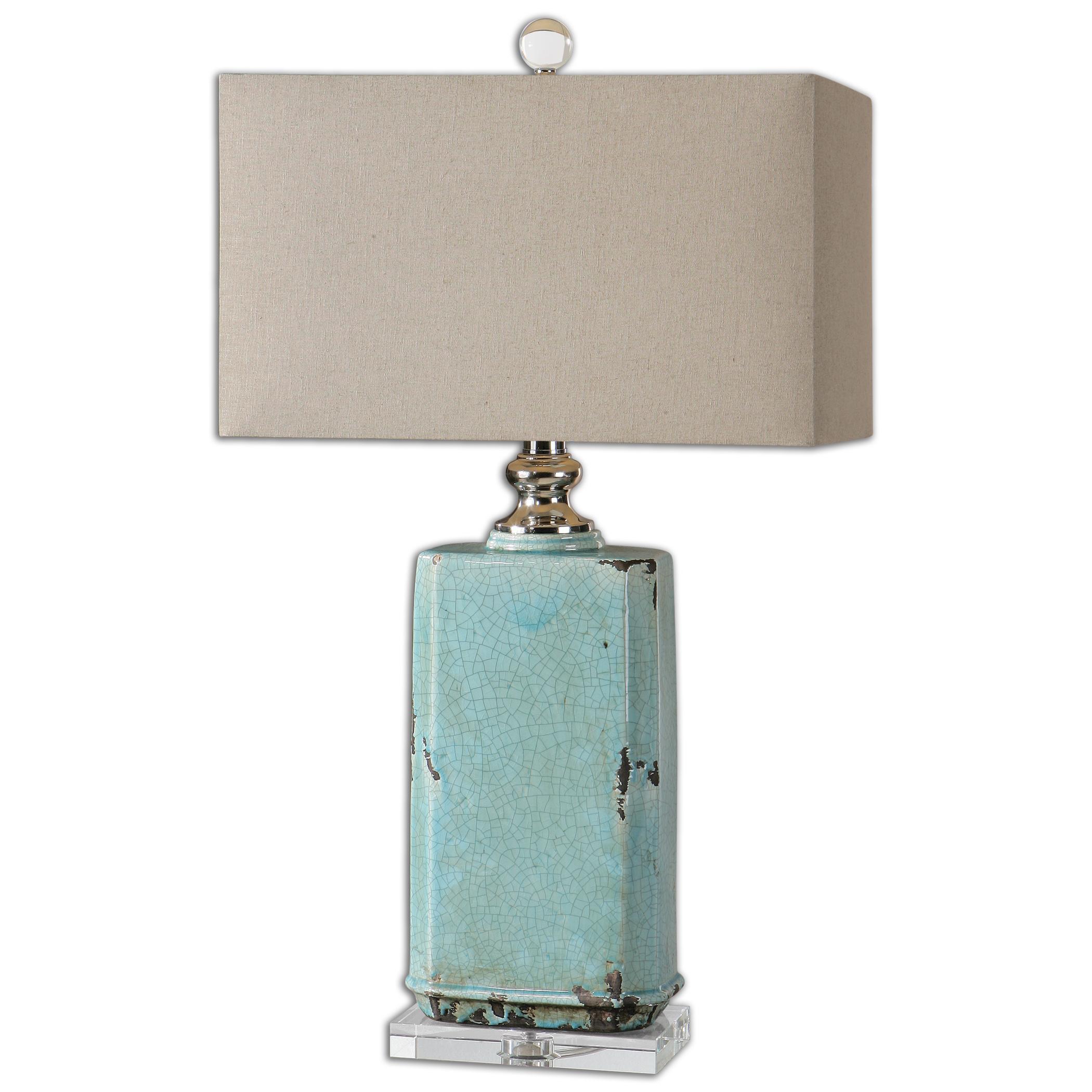 Adalbern Blue Crackle Lamp