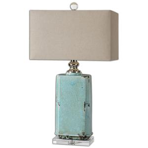 Uttermost Lamps Adalbern Blue Crackle Lamp