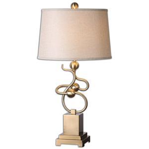 Uttermost Lamps Apollonia Modern Brass Lamp