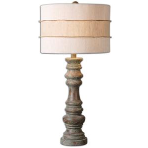 Uttermost Lamps Gerlind Wooden Table Lamp