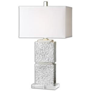 Uttermost Table Lamps Eumelia Silver Table Lamp