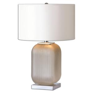 Uttermost Lamps Forino Gray Glass Table Lamp