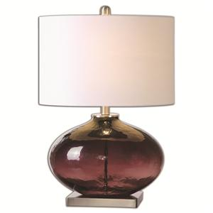 Uttermost Lamps Tyrian Purple Glass Table Lamp