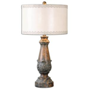 Uttermost Lamps Valdarno Aged Pecan Table Lamp