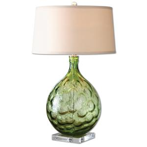Uttermost Lamps Florian Green Glass Table Lamp