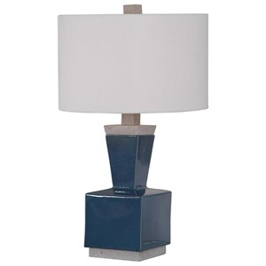 Jorris Blue Table Lamp