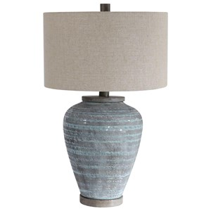 Pelia Light Aqua Table Lamp