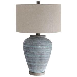 Pelia Light Aqua Table Lamp