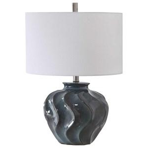 Aquilina Aged Blue Table Lamp