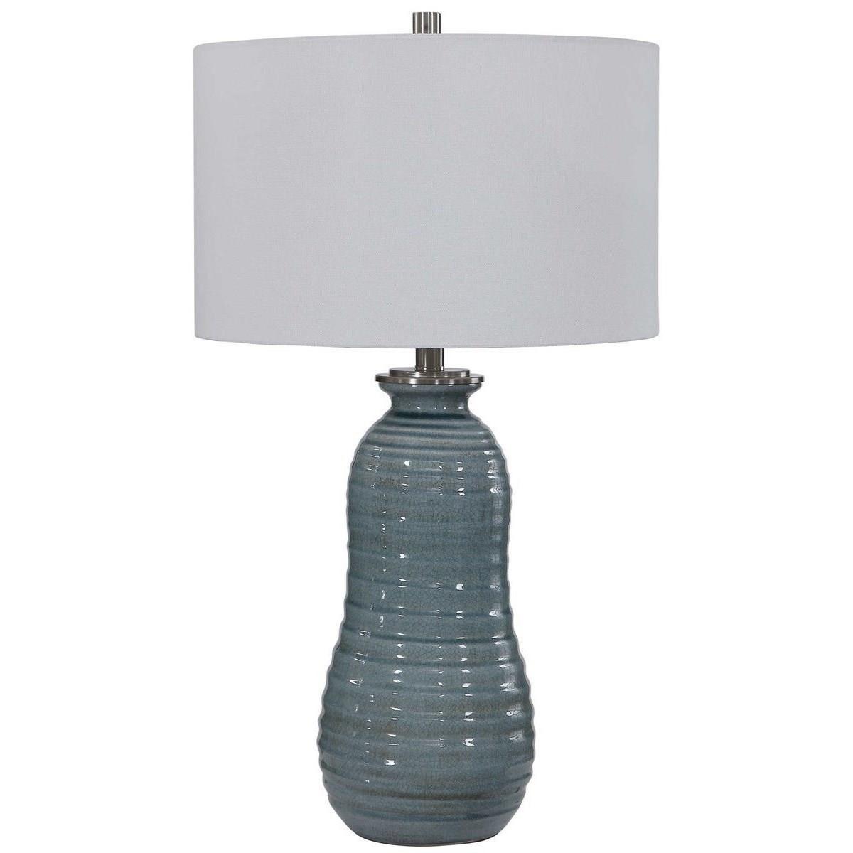 Zaila Light Blue Table Lamp