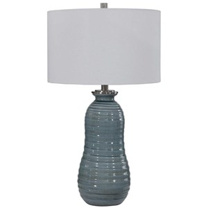 Zaila Light Blue Table Lamp