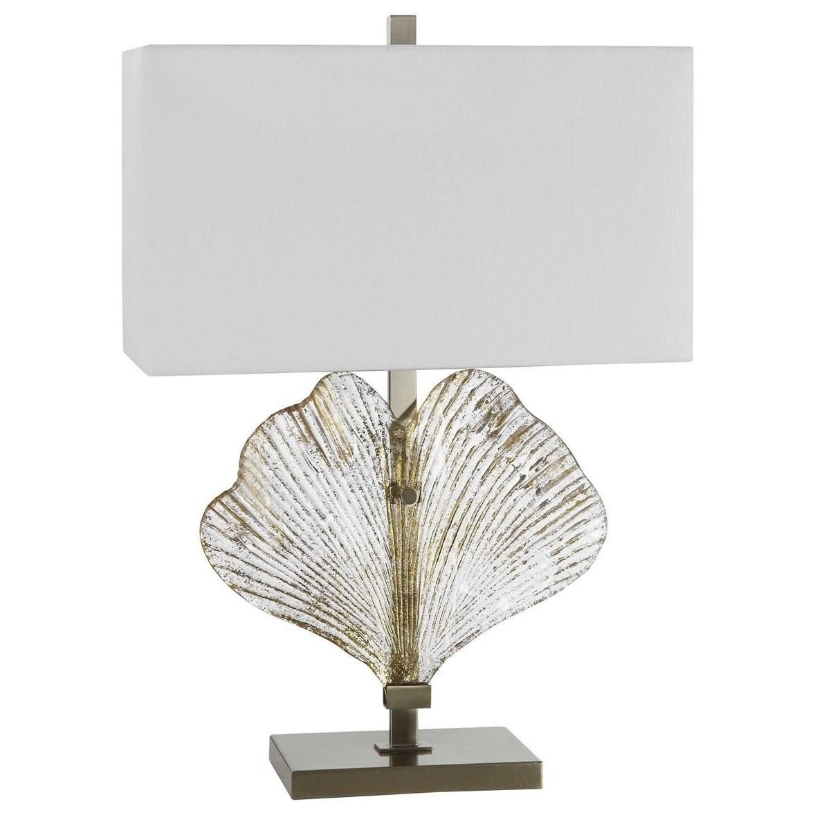 Table Lamps Anara Glass Leaf Table Lamp by Uttermost at Hudson's Furniture