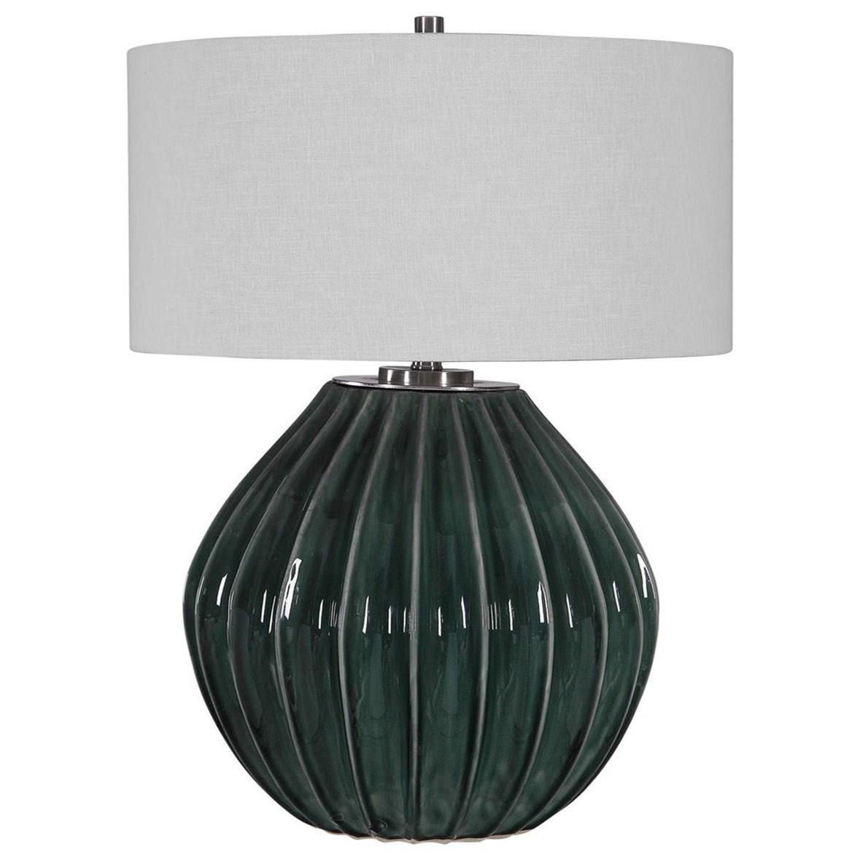 Rhonwen Green Table Lamp