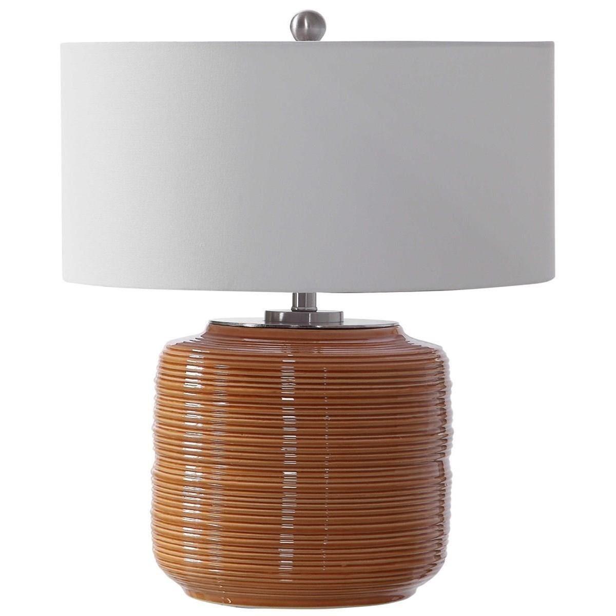 Solene Orange Table Lamp