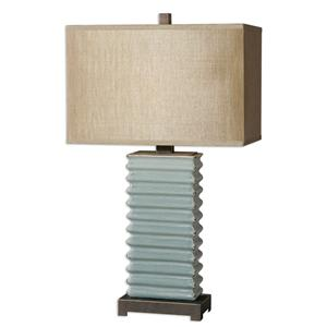 Uttermost Lamps Lupara Crackled Blue Lamp