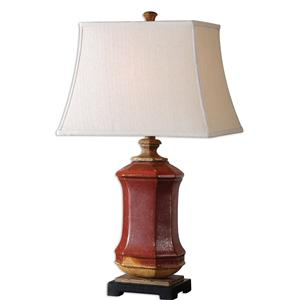 Uttermost Lamps Fogliano Red Ceramic Lamp