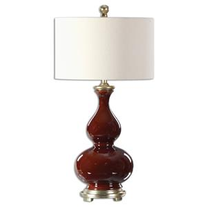 Uttermost Lamps Sorrell Burgundy Table Lamp