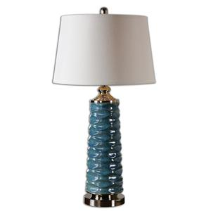 Delavan Rust Blue Table Lamp