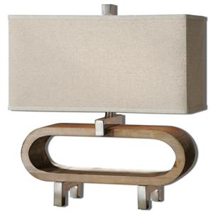 Uttermost Lamps Medea Wood Accent Lamp