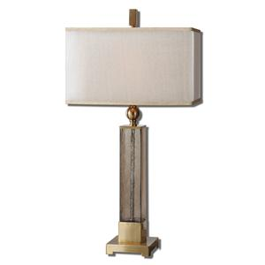Uttermost Table Lamps Caecilia Amber Glass Table Lamp