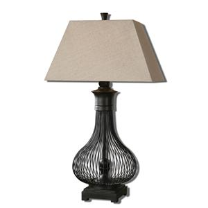 Uttermost Lamps Horatio Metal Cage Table Lamp