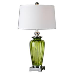 Uttermost Lamps Amedeo Green Glass Table Lamp