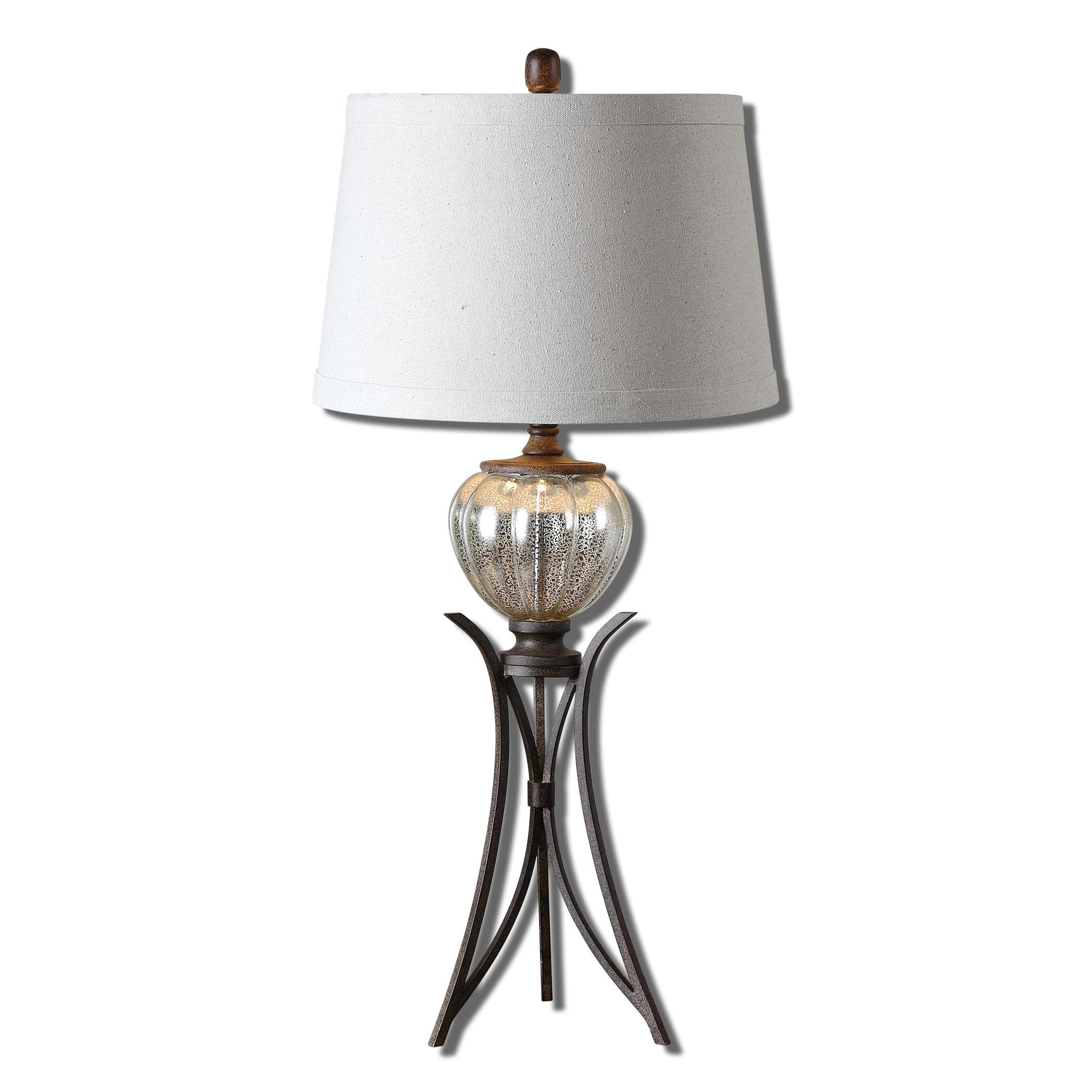 Cebrario Mercury Glass Table Lamp
