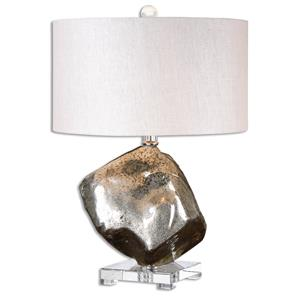Uttermost Lamps Everly Silver Glass Table Lamp
