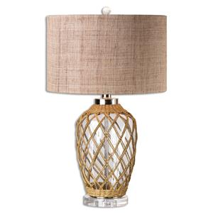 Uttermost Lamps Foiano Glass Rope Table Lamp
