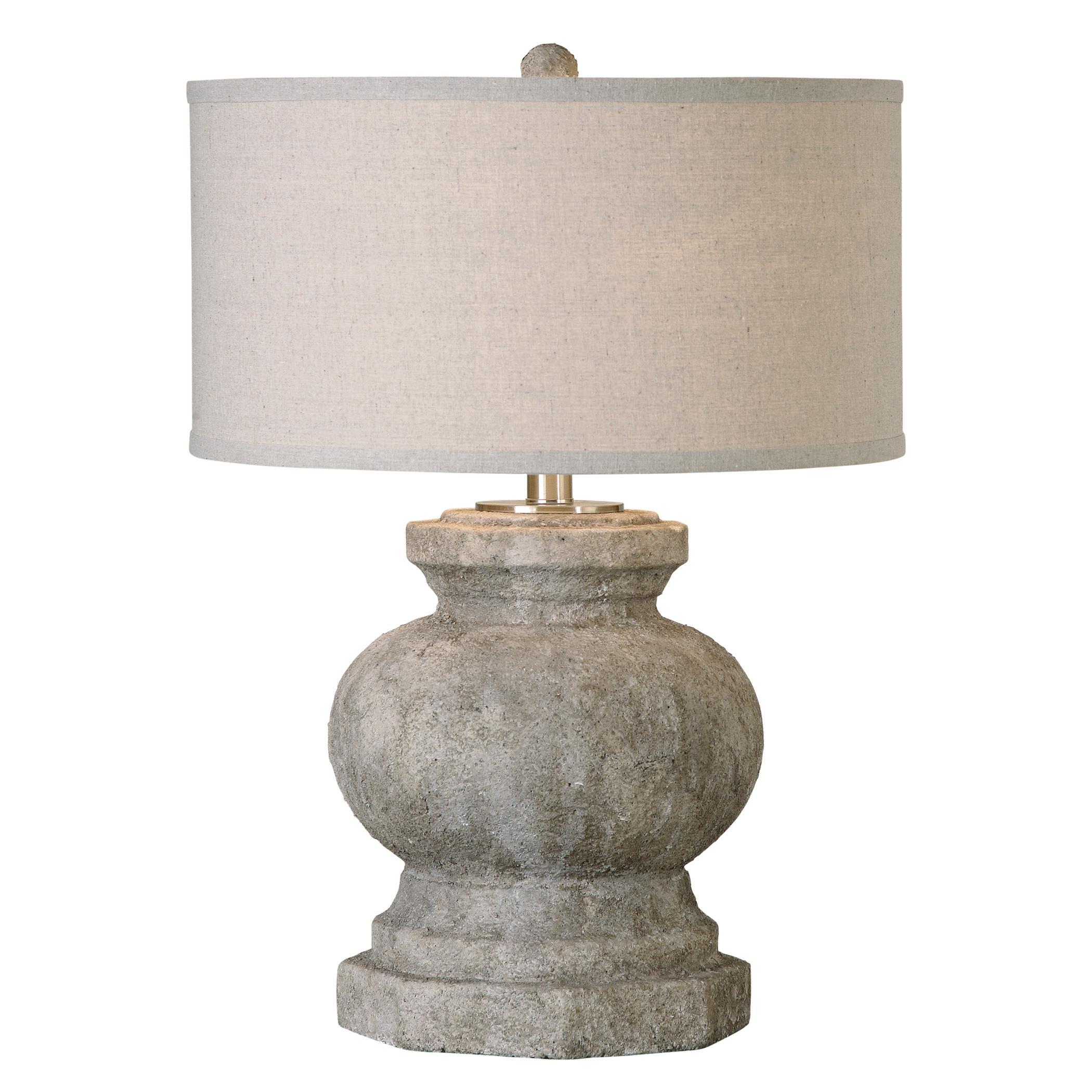 Verdello Antiqued Stone Table Lamp