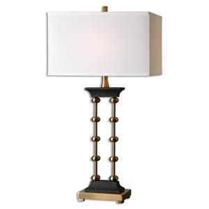 Uttermost Lamps Santona Brushed Brass Table Lamp
