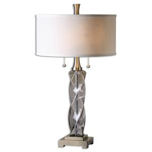 Uttermost Lamps Spirano Gray Glass Table Lamp