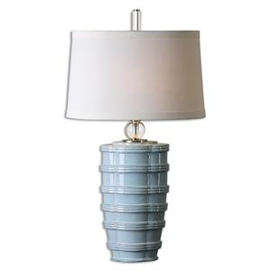 Uttermost Lamps Sassinoro Light Blue Table Lamp