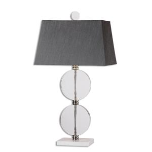 Uttermost Lamps Telesino Crystal Disk Table Lamp