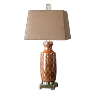 Uttermost Lamps Aguilar Rust Red Table Lamp