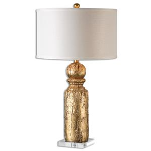 Uttermost Lamps Lorenzello Gold Leaf Table Lamp