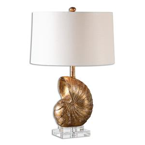 Uttermost Lamps Concha Gold Leaf Table Lamp