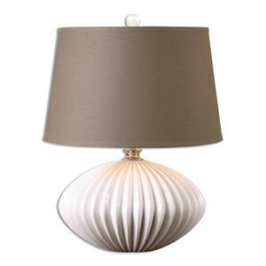 Uttermost Lamps Bariano Gloss White Table Lamp